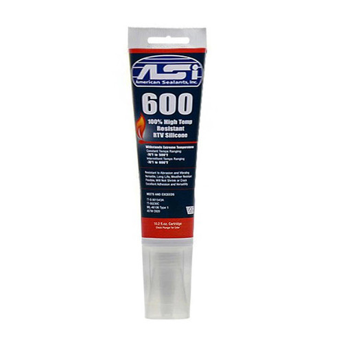 ASI 600 High Performance Red Silicone - 2.8 oz. Tube