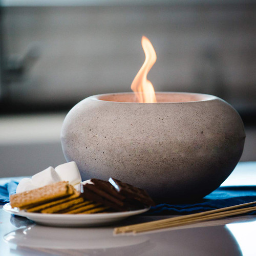 Stone Fire Bowl - Pewter