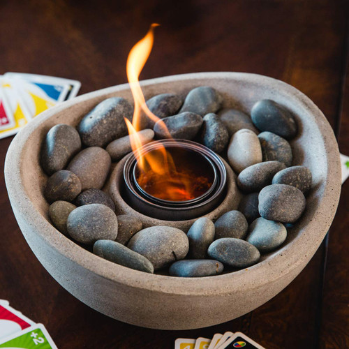 Wave Fire Bowl II - Pewter
