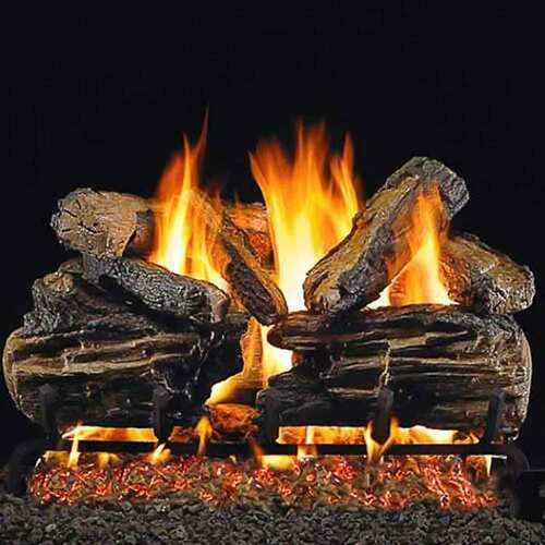 18'' Hargrove Seasoned Split Oak Vented Gas Logs - Logs Only