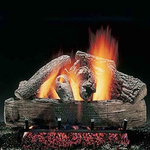 24'' Hargrove Charred Split Oak Vented Gas Logs - Logs Only