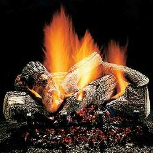 24'' Hargrove Burnt Oak Vented Gas Logs - Logs Only