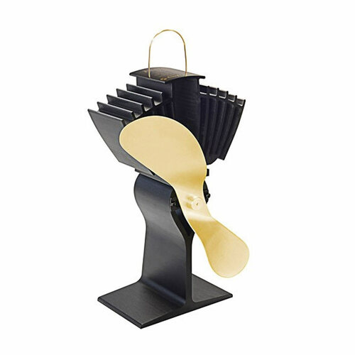 EcoFan AirMax Heat Powered Wood Stove Fan - Gold Colored Blades