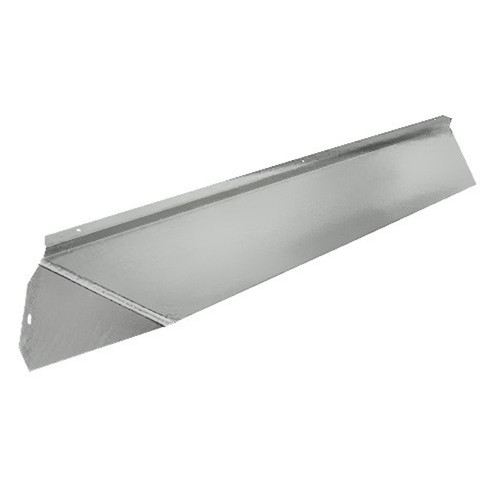 Elite Fireplace 36'' Canopy Hood 4'' Wide Track Mount - Polished Chrome