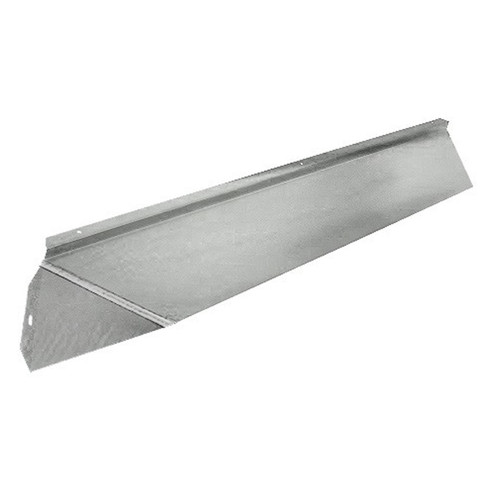 Elite Fireplace 36'' Canopy Hood 4'' Wide Track Mount - Satin Chrome