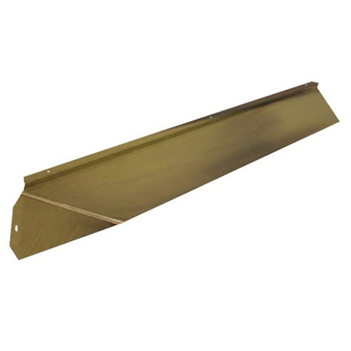 Elite Fireplace 42'' Canopy Hood 4'' Wide Track Mount - Polished Brass