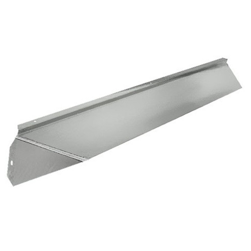 Elite Fireplace 42'' Canopy Hood 4'' Wide Track Mount - Polished Chrome