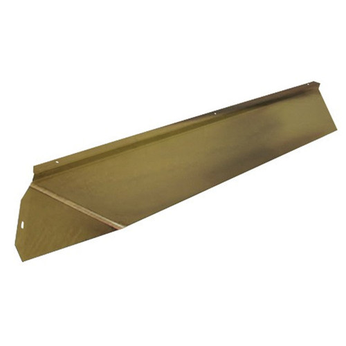 Elite Fireplace 36'' Canopy Hood 6'' Wide Track Mount - Polished Brass
