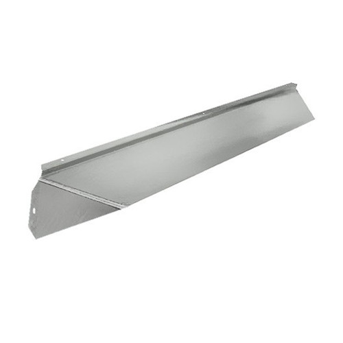 Elite Fireplace 42'' Canopy Hood 6'' Wide Track Mount - Polished Chrome