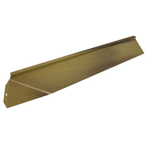Elite Fireplace 48'' Canopy Hood 6'' Wide Track Mount - Polished Brass