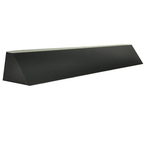 Elite Fireplace 36'' Square End Hood with 10'' Lintel Mount - Matte Black