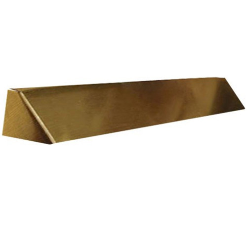 Elite Fireplace 42'' Square End Hood with 10'' Lintel Mount - Antique Brass