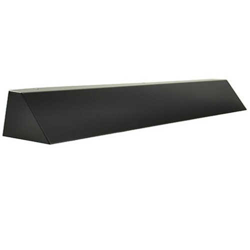 Elite Fireplace 42'' Square End Hood with 10'' Lintel Mount - Matte Black