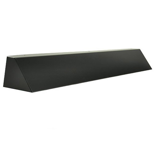 Elite Fireplace 36'' Square End Hood with 2'' Lintel Mount - Matte Black