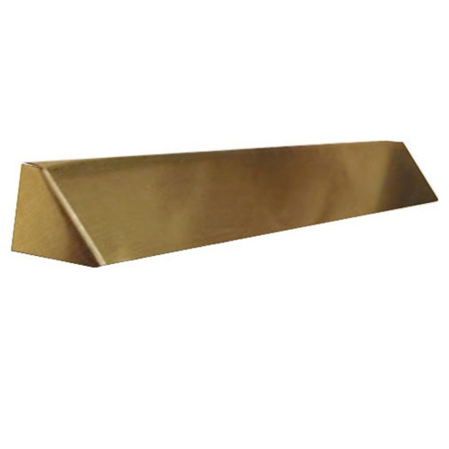Elite Fireplace 36'' Square End Hood with 2'' Lintel Mount - Polished Brass