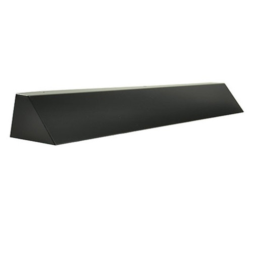 Elite Fireplace 42'' Square End Hood with 2'' Lintel Mount - Matte Black