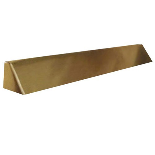 Elite Fireplace 48'' Square End Hood with 2'' Lintel Mount - Polished Brass