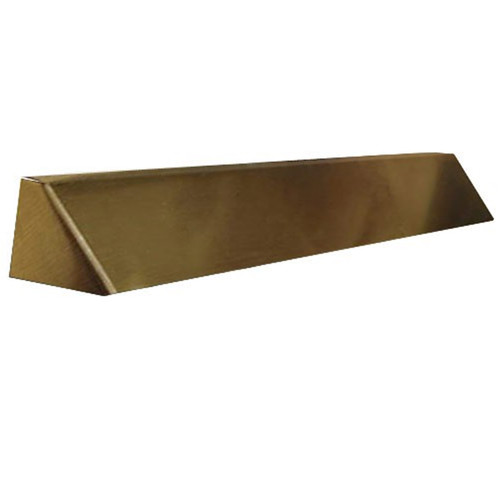 Elite Fireplace 36'' Square End Hood with 4'' Lintel Mount - Antique Brass