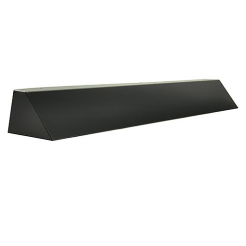 Elite Fireplace 42'' Square End Hood with 4'' Lintel Mount - Matte Black