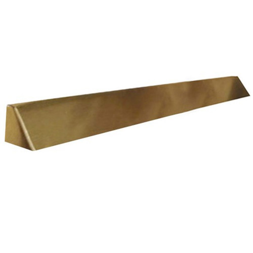 Elite Fireplace 56'' Square End Hood with 4'' Lintel Mount - Polished Brass