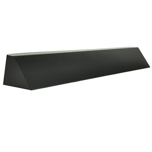 Elite Fireplace 36'' Square End Hood with 6'' Lintel Mount - Matte Black