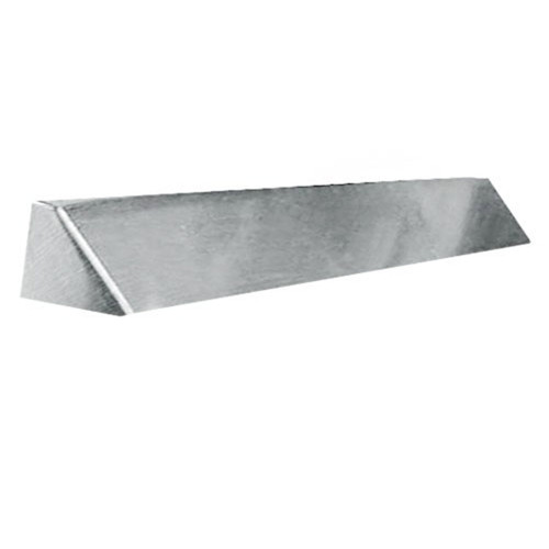 Elite Fireplace 42'' Square End Hood with 6'' Lintel Mount - Satin Chrome