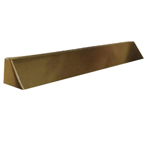 Elite Fireplace 48'' Square End Hood with 6'' Lintel Mount - Antique Brass