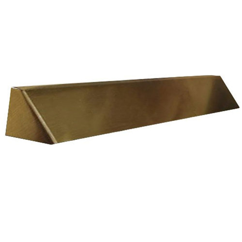 Elite Fireplace 36'' Square End Hood with 8'' Lintel Mount - Antique Brass