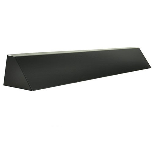 Elite Fireplace 36'' Square End Hood with 8'' Lintel Mount - Matte Black