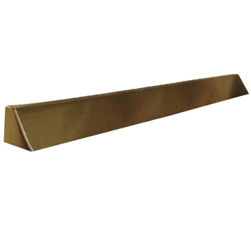 Elite Fireplace 56'' Square End Hood with 8'' Lintel Mount - Polished Brass