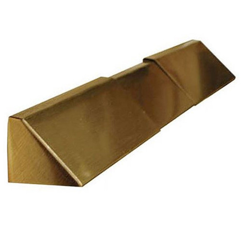 Elite Fireplace 6'' Adjustable Lintel Mount Hood - Polished Brass