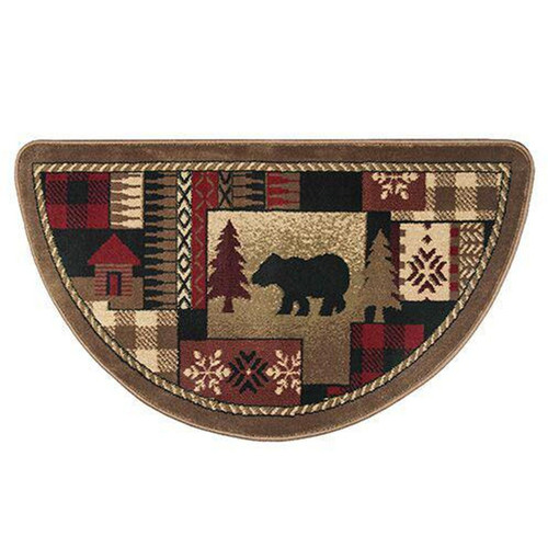 "42"" Half Round Bear Hearth Rug"