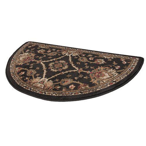 "42"" Half Round Regal Black Hearth Rug"
