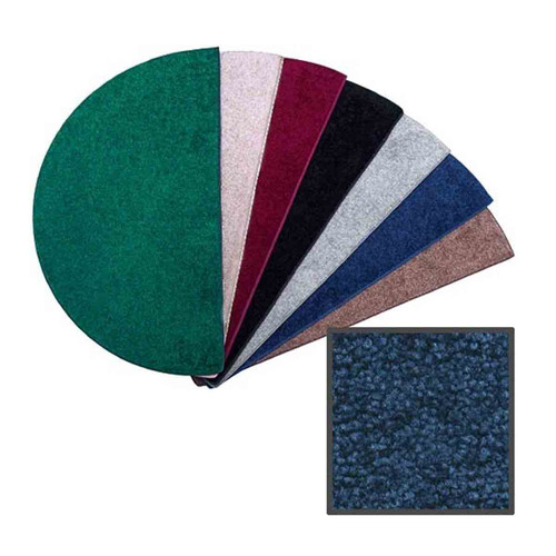 Canyon Polyester 6' Half Round Hearth Rug - Midnight Blue
