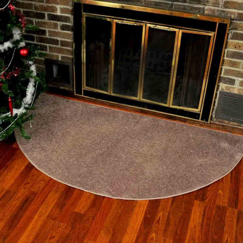 Canyon Polyester 6' Half Round Rug - Hickory