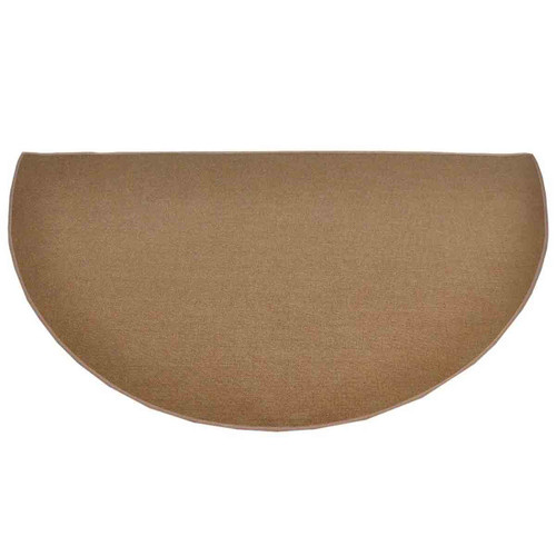 5' Half Round Brown Guardian Fireplace Rug