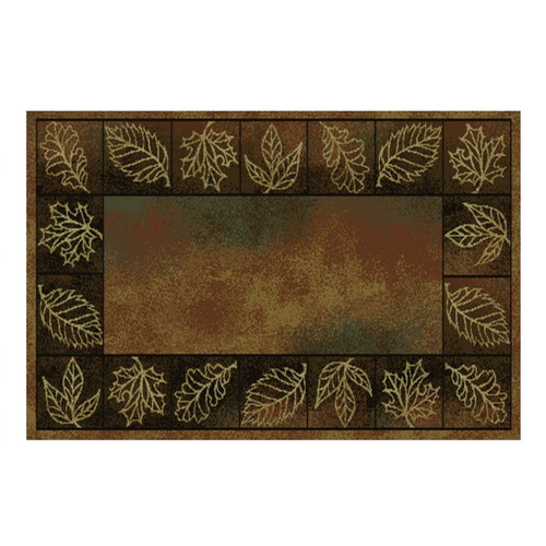 "50"" Vista Autumn Leaves Rectangle Hearth Rug - 11055"