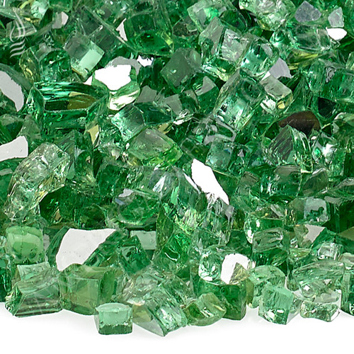 "1/4"" Evergreen Reflective Fireglass-10 lbs"