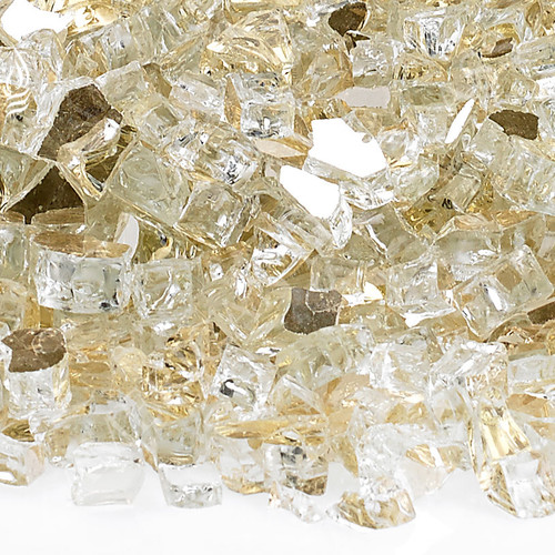 "1/4"" Gold Reflective Fireglass-10 lbs"