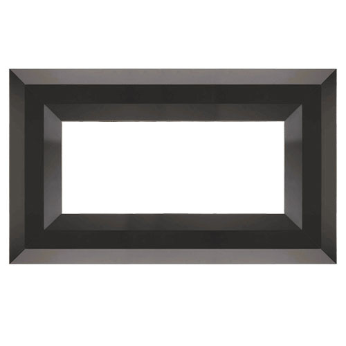 Superior Luminary Linear Fireplace Decorative Face Trim - Black