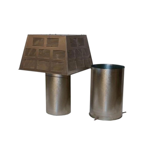 8'' Superior Square Chimney Cap with Slip Connector