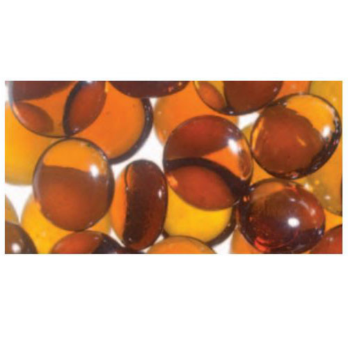 Superior Luminary Linear Smooth Glass Pebbles - Amber