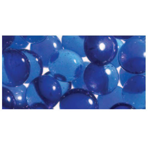 Superior Luminary Linear Smooth Glass Pebbles - Blue