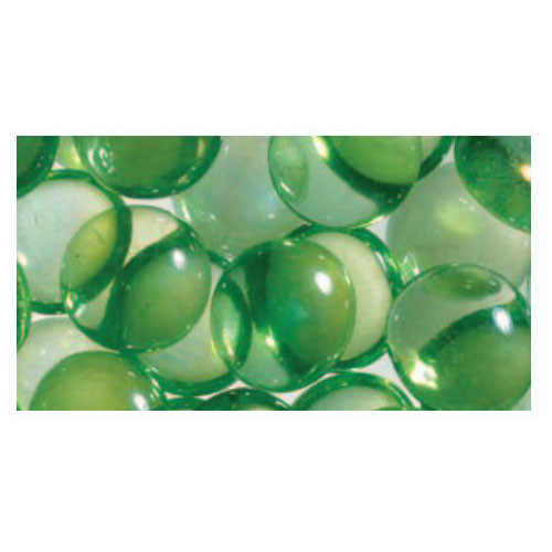 Superior Luminary Linear Smooth Glass Pebbles - Green