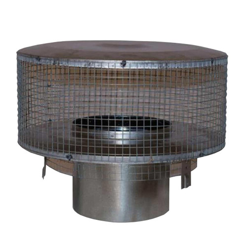 8'' Superior Round Chimney Cap with Mesh Screen