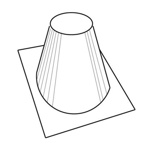 12'' 6/12 - 12/12 Pitch Roof Flashing