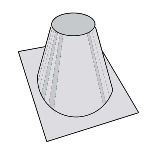 8'' Superior 0 - 6/12 Roof Flashing - 24'' Base