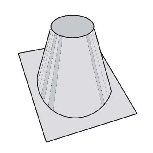 8'' Superior 0 - 6/12 Roof Flashing - 30'' Base