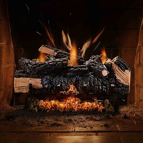 18'' Cumberland Charred Gas Log Set w/Variable Flame - NG