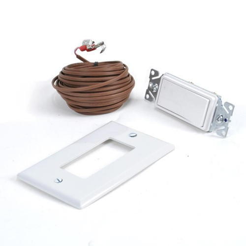 Hearth Products Controls White Wall Switch and Plate